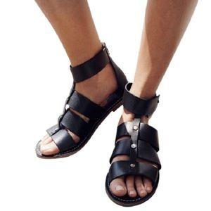 ceb8b4829e38 Madewell Rowen Gladiator Black Sandals Size 9.5